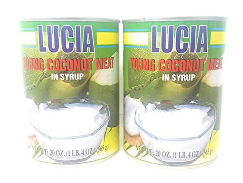 Lucia Young Coconut Meat in Syrup 565g, 2 Pack
