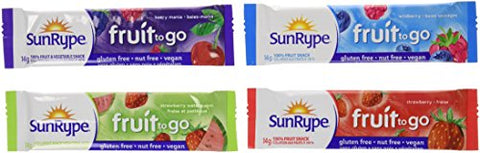 SunRype Fruit to Go Snack - Variety Pack of 72 {Imported from Canada}