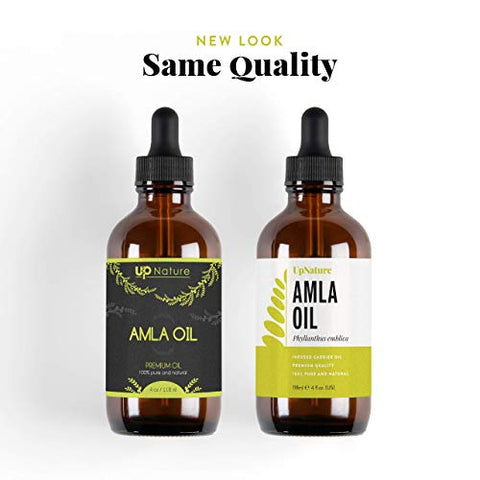 Amla Essential Oil 4 OZ - Promotes Hair Growth - Pure, Unrefined, Non-GMO - Great For Skin - Anti-aging - Treatment For Itchy Scalp, Prevents Dandruff - With Dropper by UpNature