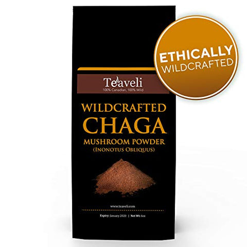 Premium Chaga Mushroom Powder  Powerful Support For Healthy Immune System  Ethically Wildcrafted  Ch