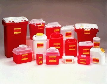 BD 5.4 qt. Patient / Exam Room Sharps Collector, 10.75