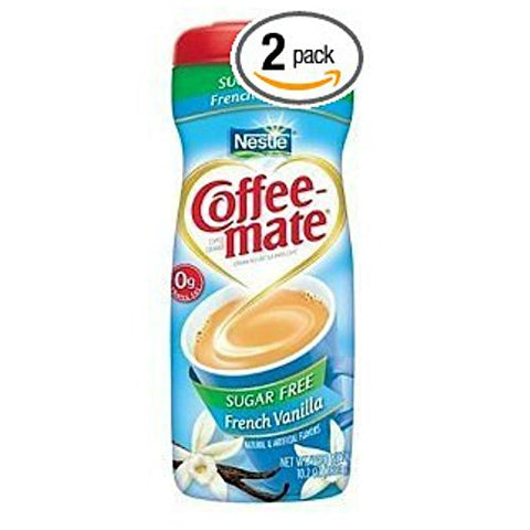 Coffee Mate French Vanilla Sugar Free Coffee Creamer 10.2 Oz (Pack of 2)