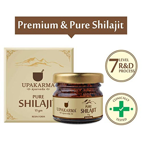 Upakarma Natural & Pure Resin Raw Shilajit 15 Grams