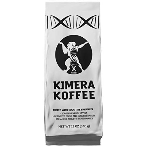 Kimera Koffee Original Roast - Organic Ground Coffee Infused with Essential Brain Vitamins (12oz), Rich, Organic Coffee Beans with Cognitive Enhancers to Boost Energy Levels, Brain Function, Memory, F