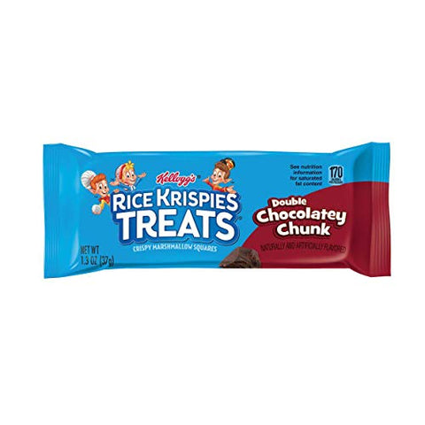 Kellogg's Rice Crispy Treats Double Chocolatey Chunk Kelloggs Crispy Marshmallow Squares 20-1.3 Ounce Bars (Pack of 4)