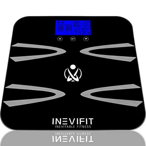 INEVIFIT Body-Analyzer Scale, Highly Accurate Digital Bathroom Body Composition Analyzer, Measures Weight, Body Fat, Water, Muscle, BMI, Visceral Levels & Bone Mass for 10 Users. 5-Year Warranty