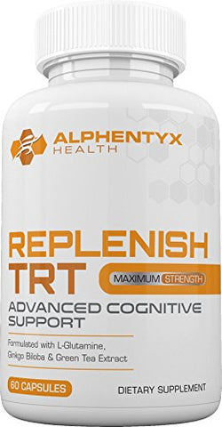 Nootropic by Alphentyx Health Replenish TRT - Brain Booster For Memory, Clarity and Focus.