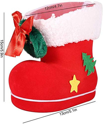 LIMINGZE Red Christmas Boot Big Christmas Boot Shaped Candy Box Bag Gift Tray Christmas Holiday Ornament