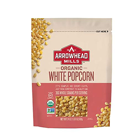 Arrowhead Mills 24 Bag of Organic Kernels, White Popcorn, 144 Oz (Pack of 6)