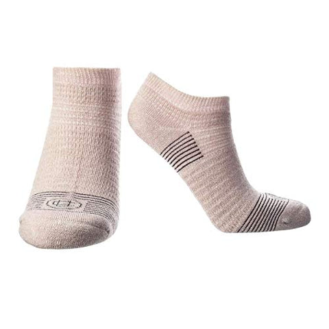 Doctor's Choice Women's Diabetic & Neuropathy Socks, No Show, Non-Binding with Aloe, Ventilation, and Seamless Toe, Single Pair, Pink, Womens Medium: Shoe Size 6-10
