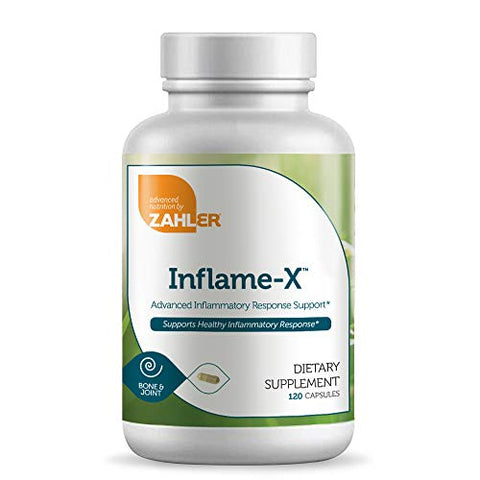 Zahler Inflame-X, Advanced Inflammation Reducer, Contains Turmeric and More which Acts as a Powerful Anti-Inflammatory Supplement, Certified Kosher, 120 Capsules