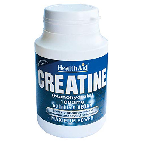 Health Aid Creatine Monohydrate 1000mg 60 Tablets
