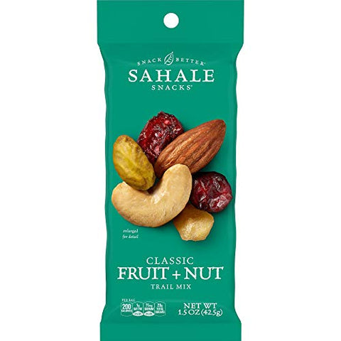 Sahale Snacks Classic Fruit and Nut Trail Mix, 1.5 Ounces (Pack of 18)