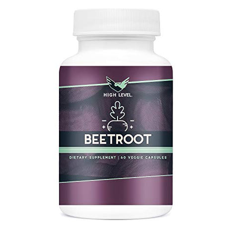 High Level Organic Beetroot | 1300mg | 60 Veggie Capsules | Nitric Oxide Booster