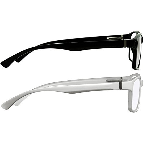 Computer Reading Glasses 2.75 Black White Protect Your Eyes Against Eye Strain, Fatigue and Dry Eyes from Digital Gear with Anti Blue Light, Anti UV, Anti Glare, and are Anti Reflective