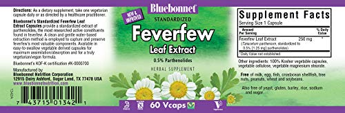 BlueBonnet Fever Few Leaf Extract Supplement, 60 Count