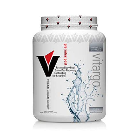 Vitargo Carb Powder Supplement | 2X Faster Muscle Fuel | 4.4 LB Unflavored Pre Workout & Post Workout | Carbohydrate Powder for Recovery, Endurance, Gain Muscle Mass