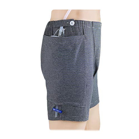 BIHIKI Incontinence Care Trousers Catheter Underwear for Elderly,Urinate Drainage Bag Pants Abdominal Surgeries Patient,Ostomy Drainage Bag Care Clothes (Men, L)