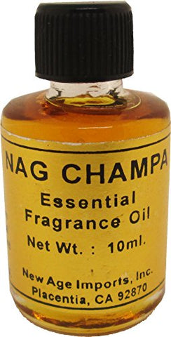 New Age Nag Champa India Essential Fragrance Oil [Pack of 2 - Brown - 10 ml]