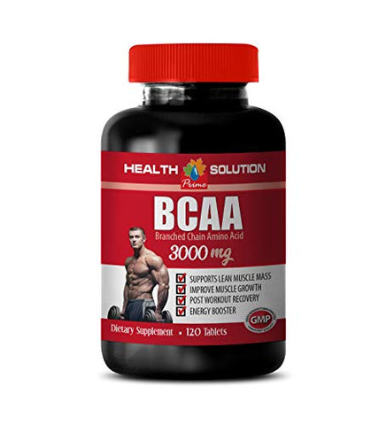 Muscle Growth Products - BCAA 3000 MG - bcaas Amino acids - 1 Bottle 120 Tablets