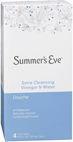 Summer's Eve Douches Extra Cleansing Vinegar and Water 4 Each (Pack of 2)