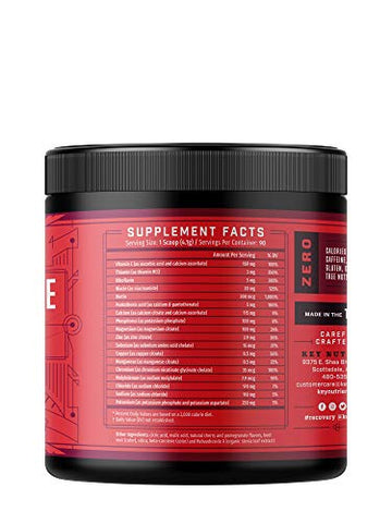 Electrolyte Powder, Cherry-Pom Hydration Supplement: 90 Servings, Carb, Calorie & Sugar Free, Delicious Keto Replenishment Drink Mix. 6 Key Electrolytes - Magnesium, Potassium, Calcium & More.