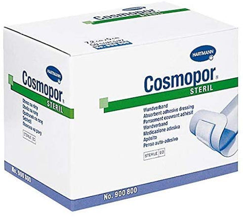 Cosmopor Adhesive Dressing 2 X 2-9/10 Inch NonWoven Rectangle White Sterile, 900800 - Box of 50
