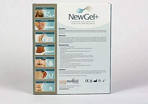 NewGel+ Silicone Gel Sheeting for Scar Management - 5