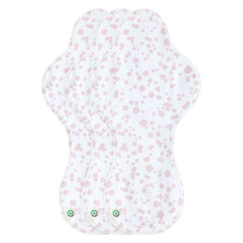 think ECO Promotion] [Petit Franc 3p] Organic Reusable Cotton Pads, Menstrual Pads, Sanitary Napkins, Petit Franc Pattern, 3 Pads. (Pads PF Night Plus)