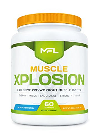 Muscle Food Labs Muscle Xplosion - PRE-Workout SWEETENED with STEVIA (Lemonade)