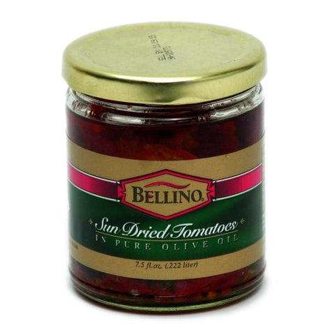 Bellino Sun Dried Tomatoes in Pure Olive Oil 7.5 oz (Pack of 3)