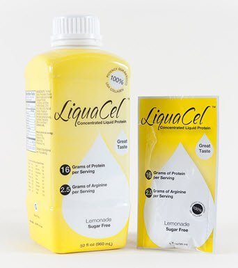 LiquaCel Oral Protein Supplement Lemonade Flavor 32 oz. Bottle Ready to Use, GH115 - ONE Bottle