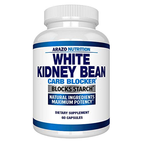 White Kidney Bean Extract - 100% Pure Carb Blocker and Fat Absorber for Weight Loss - Intercept Carbs  Arazo Nutrition