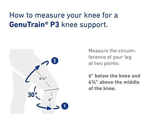 Bauerfeind - GenuTrain P3 - Knee Support - for Misalignment of The Kneecap - Right Knee - Size 5 - Color Titanium
