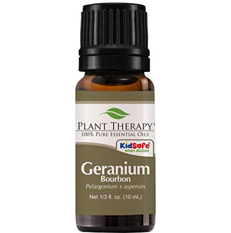 Plant Therapy Geranium Bourbon Essential Oil 100% Pure, Undiluted, Natural Aromatherapy, Therapeutic Grade 10 mL (1/3 oz)