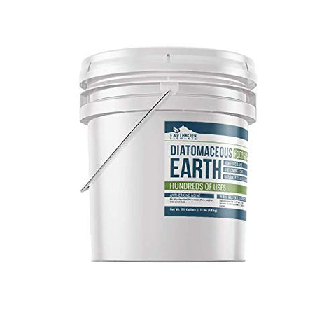 Diatomaceous Earth (3.5 Gallon) by Earthborn Elements, Resealable Bucket, Highest Quality, FCC Food Grade, 100% Pure Freshwater Amorphous Silic