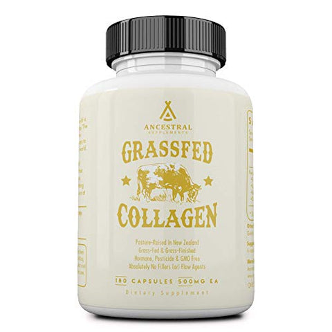 Ancestral Supplements Grass Fed (Living) Collagenâ??Supports Joints, Marrow Bones, Cartilage, Skin,