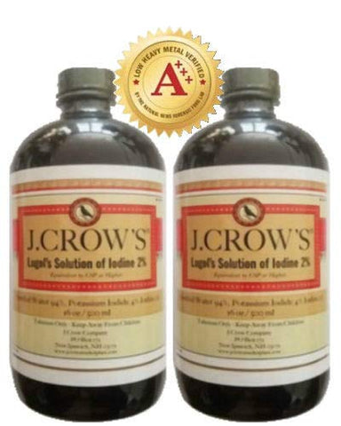 J.Crow'sã'â® Lugol's Solution Of Iodine 2% 16 Oz Twin Pack (2 Bottles)