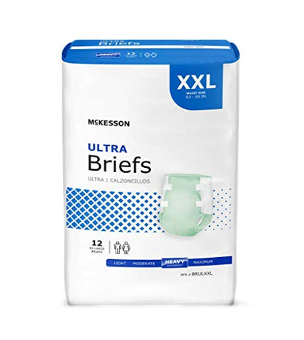 McKesson Ultra - Adult Incontinent Brief McKesson Ultra Tab Closure 2X-Large Disposable Heavy Absorbency - 12/Bag - McK
