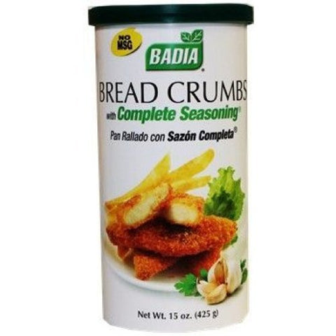 Badia Bread Crumbs with Complete Seasoning - 15 Oz. - 12 Cans