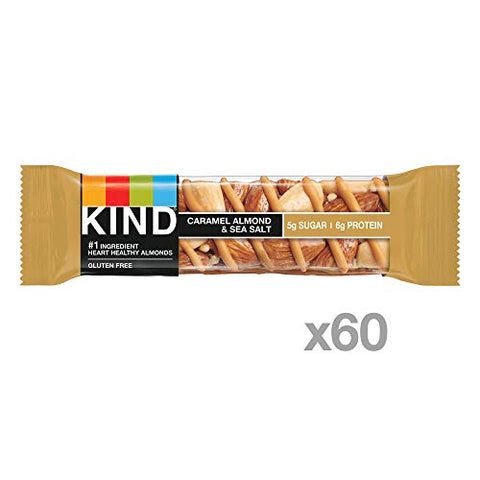 KIND Bar, Caramel Almond & Sea Salt, 1.4 Ounce, 60 Count