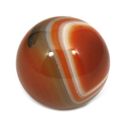 CrystalAge Banded Agate Sphere ~Carnelian Red - SAGR Small