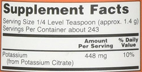Now Foods Potassium Citrate Powder 12 Ounce, 12.0 Ounce