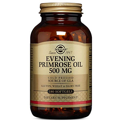 Solgar Evening Primrose Oil 500 Mg, 180 Softgels   Promotes Healthy Skin & Cardiovascular Health   N