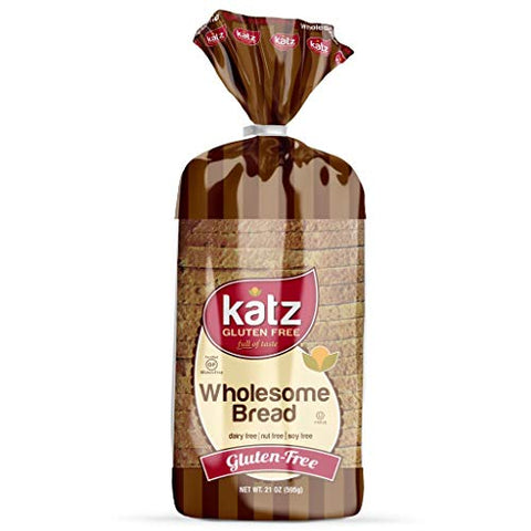 Katz Gluten Free Wholesome Bread | Dairy Free, Nut Free, Soy Free, Gluten Free | Kosher (1 Pack of 1 Sliced Loaf, 21 Ounce)
