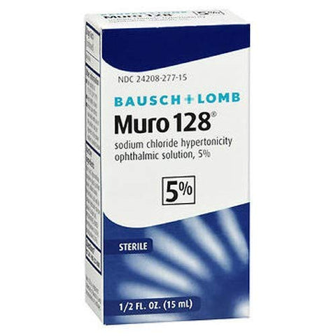 PACK OF 3 EACH MURO 128 5% SOLUTION B&L 15ML PT#24208027715
