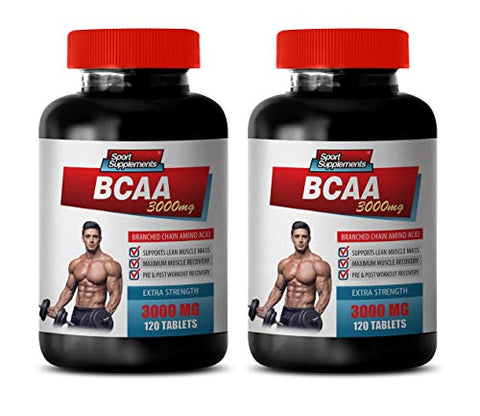 Muscle gain Supplements for Men - BCAA 3000MG - BRANCHED Chain Amino ACIDS - bcaa Workout Supplement - 2 Bottles 240 Tablets