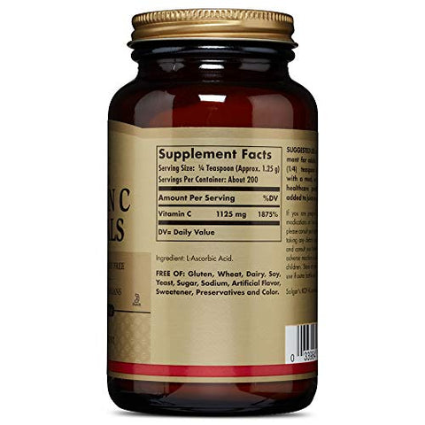 Solgar Vitamin C Crystals, 8.8 Oz   Antioxidant, Immune Support, Collagen Formation, Healthy Skin &