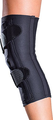 DonJoy Lateral J Patella Knee Support Brace with Hinge: Neoprene, Left Leg, X-Small