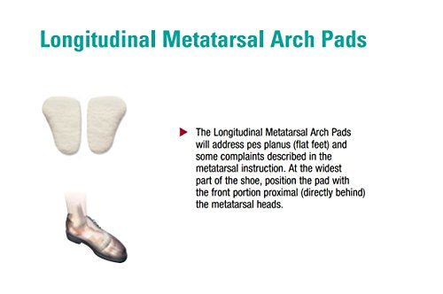 Longitudinal Metatarsal Arch Pads, Hapad Metatarsal Pads Medium 7/16'' (Pack of 3 Pairs) - Supports Arch for Runners, Cyclists and Athletes - Provides Foot Pain Relief